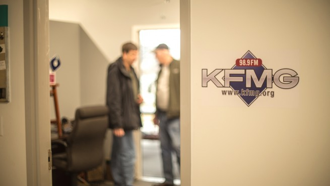 KFMG entrance during the move
